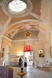 Die Minister der Kapelle der Heiligen Dreifaltigkeit in Gatchina Pala lizenzfreies stockbild