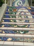 Die Mit Ziegeln deckenmosaik Moraga-Straßentreppe, San Francisco, 10 Lizenzfreie Stockfotos