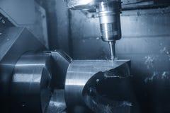 Die Mitte 5 Achse CNC maschineller Bearbeitung Stockbild