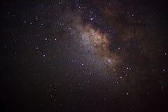 Die Mitte der Milchstraßegalaxie, lange Belichtungsphotographie lizenzfreie stockfotos