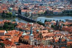 Die Mitte von Prag Stockbild