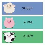 Die Mitteilung von netten Tieren Lizenzfreie Stockfotos