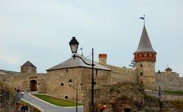 Die mittelalterliche Festung in Kamenets Podolskiy, Ukrai Stockfotos