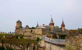 Die mittelalterliche Festung in Kamenets Podolskiy, Ukrai Lizenzfreies Stockbild