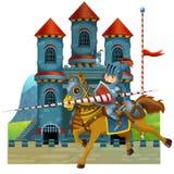 Die mittelalterliche Illustration der Karikatur für die Kinder - Titelblatt - verschiedene Verwendung Lizenzfreies Stockbild