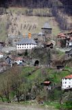 Die mittelalterliche Stadt von Vranduk Lizenzfreie Stockfotos