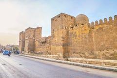 Die mittelalterlichen Wände von Kairo, Ägypten Lizenzfreies Stockfoto