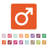 Die männliche Ikone Mannsymbol flach Lizenzfreie Stockfotografie