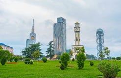 Die moderne Architektur in Batumi stockfotos