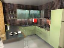 Die moderne Küche Stockbilder