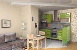 Die moderne Küche stockfoto