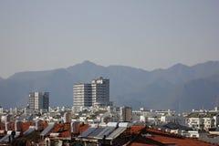 Die moderne Stadt Stockbilder