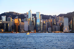 Die moderne Stadt von Hong Kong Lizenzfreie Stockfotos