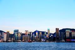 Die moderne Stadt von Hong Kong Lizenzfreies Stockfoto