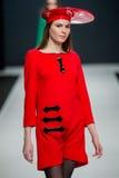 Die Modeschau Pierre Cardin in der Moskau-Mode-Woche mit Liebe für Russland Stockfoto