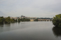 Die Moldau-Fluss- Prag Lizenzfreies Stockfoto