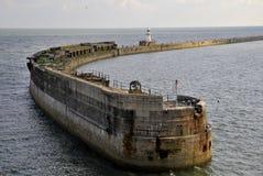 Die Mole - Kanal von Dover stockfotografie