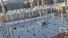 Die Moschee des Prophets in der Medina-Zeitspanne von Nachmittag zu Sonnenuntergang stock video footage