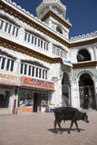 Die Moschee in Leh, Indien. Lizenzfreies Stockfoto