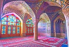 Die Moschee mit einzigartigen Dekorationen, Shiraz, der Iran Lizenzfreie Stockfotografie