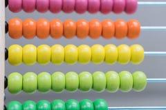 Die multi farbige Abakusgruppe Stockbilder