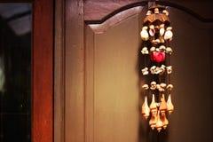 Die Muschel auf der Tür Stockfoto