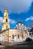 Die Museums-Kirche von Sankt Nikolaus das Wonderworker in Tolmachi moskau Russland Stockfotos