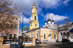 Die Museums-Kirche von Sankt Nikolaus das Wonderworker in Tolmachi moskau Russland Lizenzfreies Stockbild