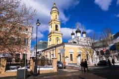 Die Museums-Kirche von Sankt Nikolaus das Wonderworker in Tolmachi moskau Russland Lizenzfreie Stockfotografie