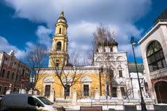 Die Museums-Kirche von Sankt Nikolaus das Wonderworker in Tolmachi moskau Russland Lizenzfreies Stockfoto