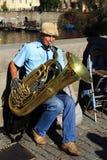Die Musiker auf Charles Bridge, Prag, Tschechische Republik Lizenzfreie Stockbilder