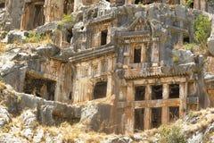 Die Myra-Felsengräber Stockfotografie
