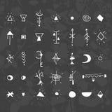 Die mystischen Zeichen und die Symbole Lizenzfreie Stockfotos