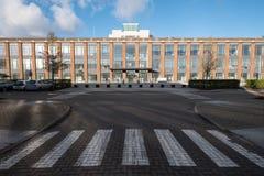 Die Nabe, hielt Büros in einem erneuerten Art- DecoArtgebäude auf Farnborough-Gewerbegebiet, Hampshire Großbritannien instand lizenzfreies stockfoto