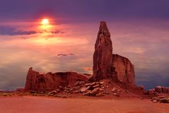 Die Nabe im Monument-Tal-Stammes- Park, Utah USA stockfoto