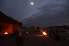 Die Nacht in der Wüste Lizenzfreies Stockfoto