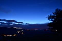 Die Nacht kommt lizenzfreie stockfotos