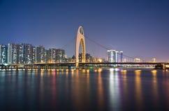 Die Nacht szenisch von Guangzhou Stockfotografie