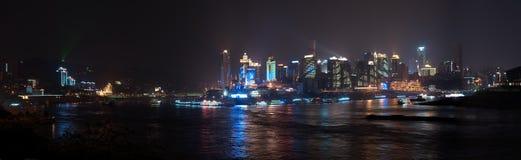 Die Nachtansicht von Chongqing, China Lizenzfreies Stockfoto