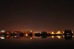 Die Nachtansicht von Peking Lizenzfreies Stockfoto