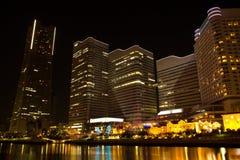 Die Nachtansicht von Yokohama, Japan Stockbilder