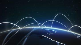 Die Nachtseite von Planetenerde Stockfotografie