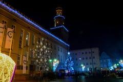 Die Nachtstadt Opole von Polen Lizenzfreies Stockbild