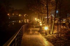 Die Nachtstadt Opole von Polen Lizenzfreie Stockfotografie