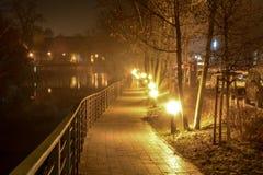 Die Nachtstadt Opole von Polen Lizenzfreie Stockbilder