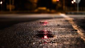 die Nachtstraße Stockbild