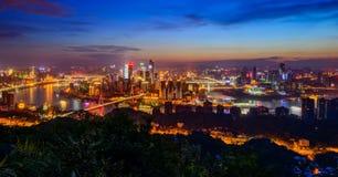 Die Nachtszenen von Chongqing Stockfoto