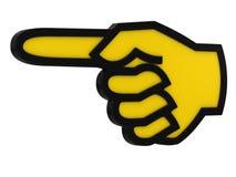 Die Nadelanzeige macht zu eine Hand Lizenzfreies Stockbild