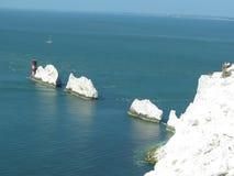 Die Nadeln, Insel von Wight Stockfotografie