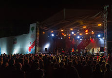 Die nagelneue Heavies-Gruppe führt bei Usadba Jazz Festival durch Stockfotos
